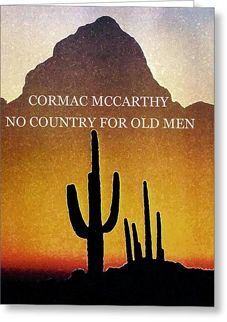 Cormac Mccarthy Poster  Greeting Card