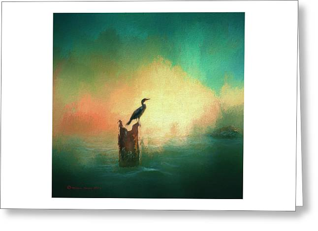 Cormorat Sunset Greeting Card