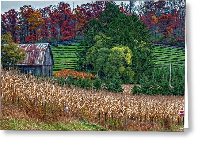 Corn And Ginseng On Poverty Hill Greeting Card