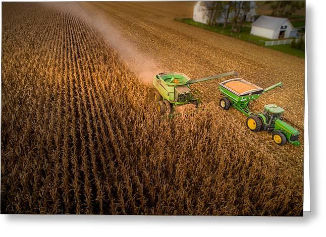 Corn Dust Greeting Card