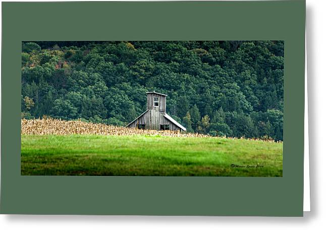 Corn Field Silo Greeting Card by Marvin Spates