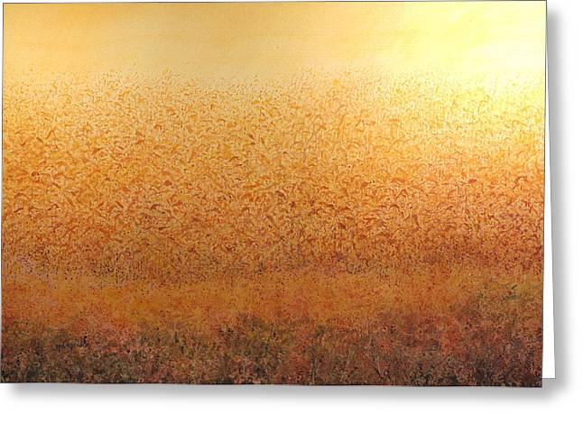 Corn Glow Greeting Card