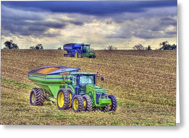 Corn Harvest No3 Greeting Card by Sam Davis Johnson