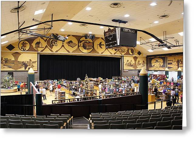 Corn Palace Interior Greeting Card