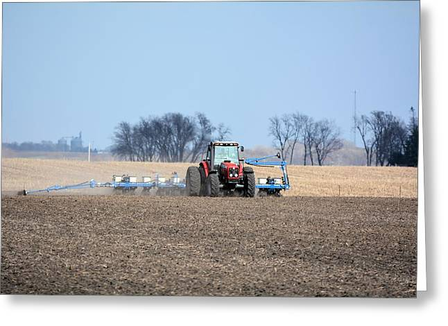 Corn Planting Greeting Card