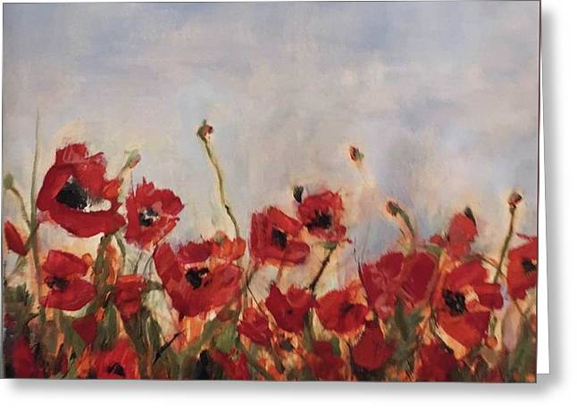 Corn Poppies In Remembrance Greeting Card
