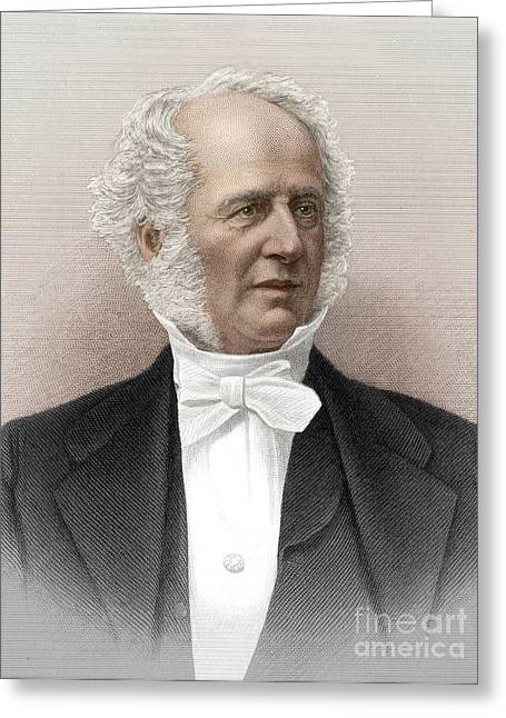 Cornelius Vanderbilt, American Business Greeting Card by Science Source
