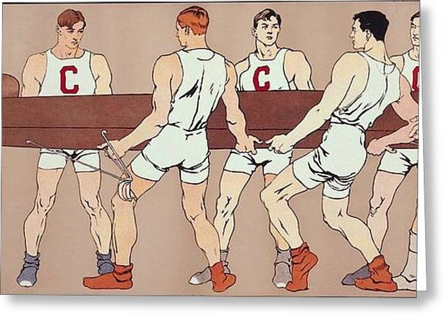 Cornell Eight Crew Rowing Poster Greeting Card