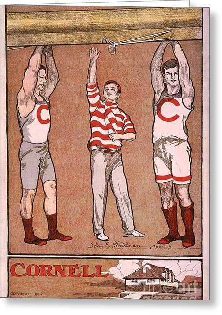 Cornell Rowing Poster  Greeting Card by MotionAge Designs