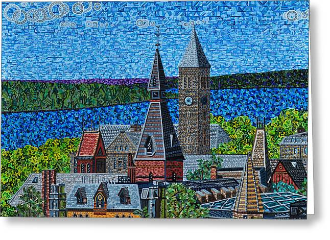 Cornell University Greeting Card by Micah Mullen