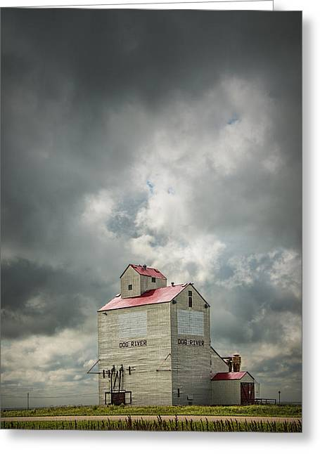 Corner Gas Grain Elevator In Dog River Greeting Card