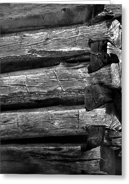 Corner-logs Greeting Card