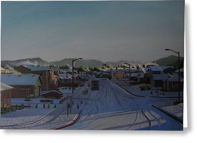 Corner Of 157th St. And 168th Ave. Greeting Card by Thu Nguyen