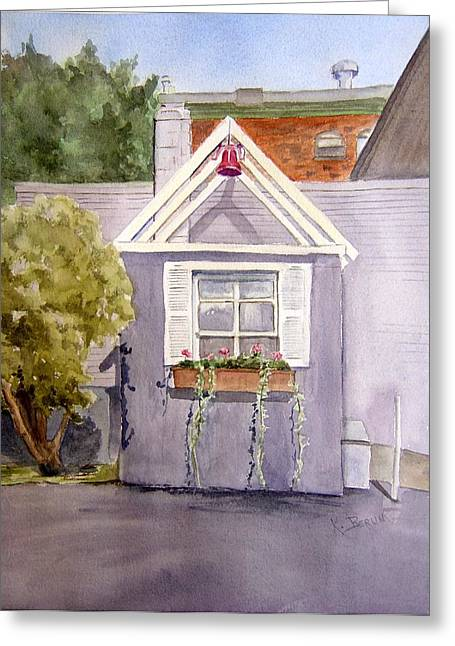 East Hampton Paintings Greeting Cards - Corner of Barton and Main Greeting Card by Katherine  Berlin