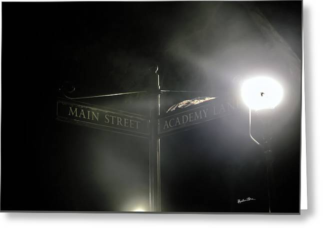 Corner Of Main Street And Academy Lane Greeting Card by Madeline Ellis