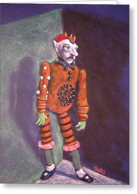 Cornered Marionette Strings Not Included Greeting Card by Dennis Tawes