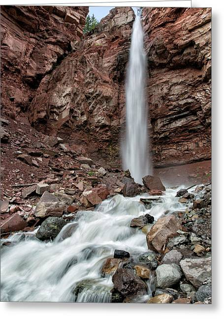 Cornet Falls In Spring Greeting Card