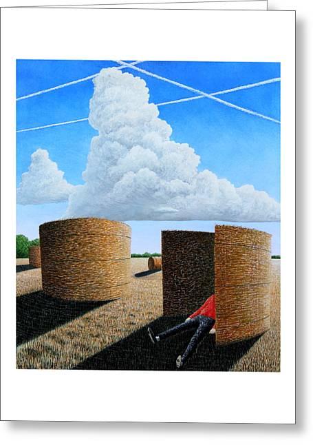 Cornfield Dreamer Greeting Card by Adrian Jones