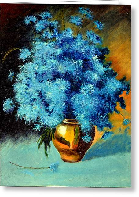 Cornflowers Greeting Card by Henryk Gorecki