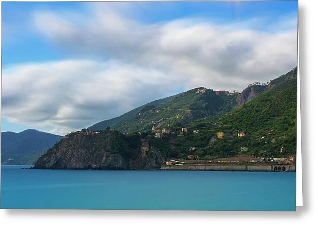 Greeting Card featuring the photograph Corniglia Cinque Terre Italy by Brad Scott