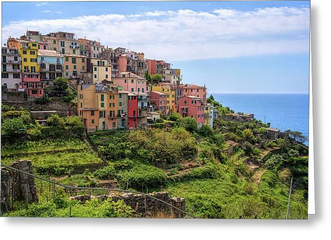Corniglia Cinque Terre Italy Greeting Card