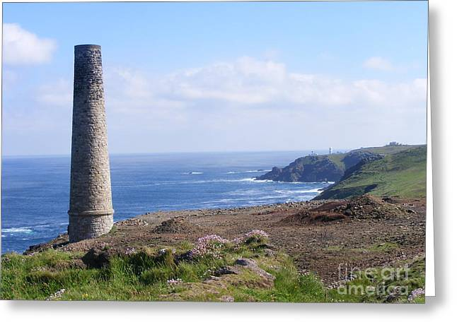 Cornish Mine Greeting Card by Alexia Miles