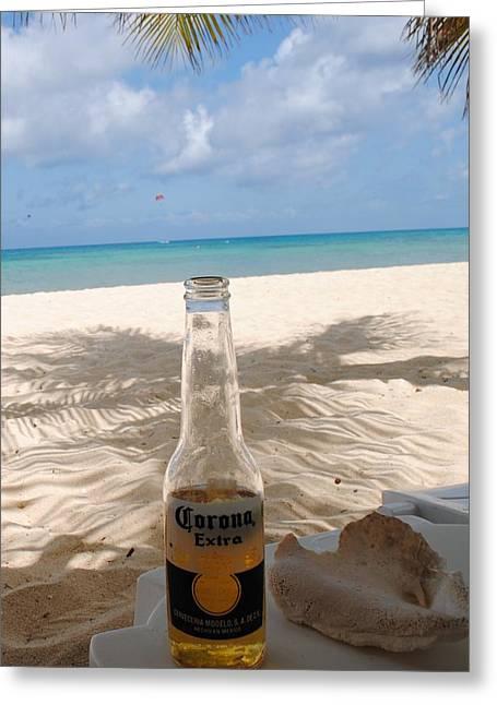 Corona Beach Day Greeting Card