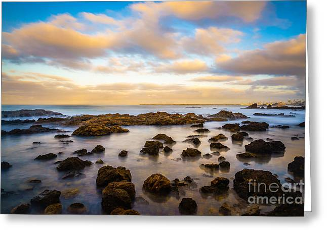 Corona Beach Tide Pools In Newport Beach California Greeting Card