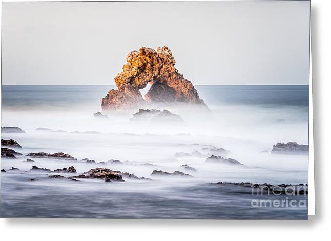 Corona Del Mar Arch Rock In Newport Beach California Greeting Card