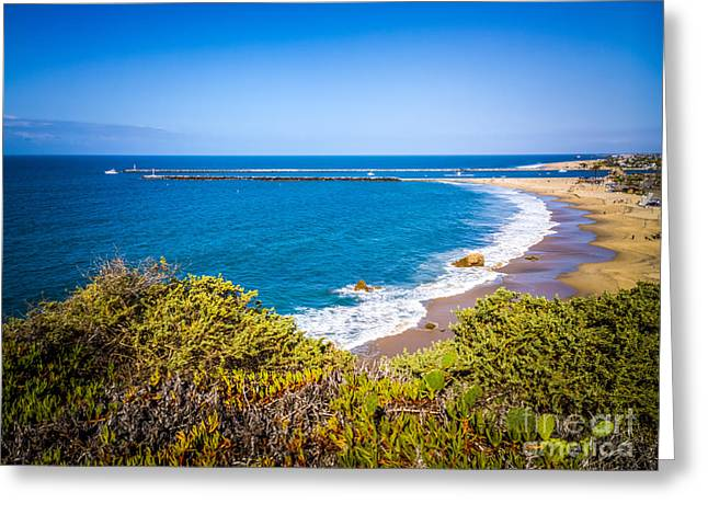Corona Del Mar Beach California Picture Greeting Card