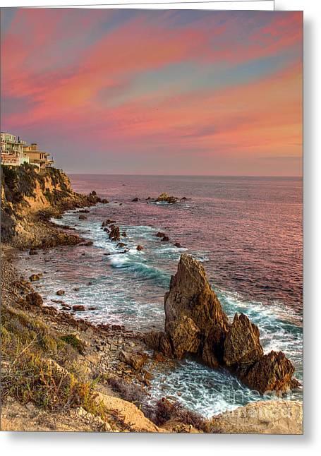Corona Del Mar Coastline Greeting Card