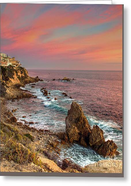 Corona Del Mar Coastline Greeting Card by Eddie Yerkish