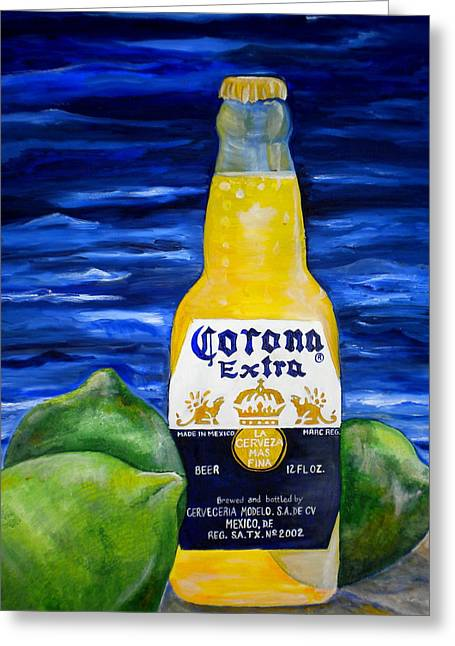 Corona Greeting Card by Patti Schermerhorn