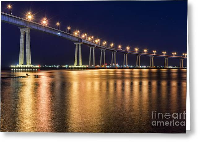 Coronado Bridge Greeting Card by Eddie Yerkish