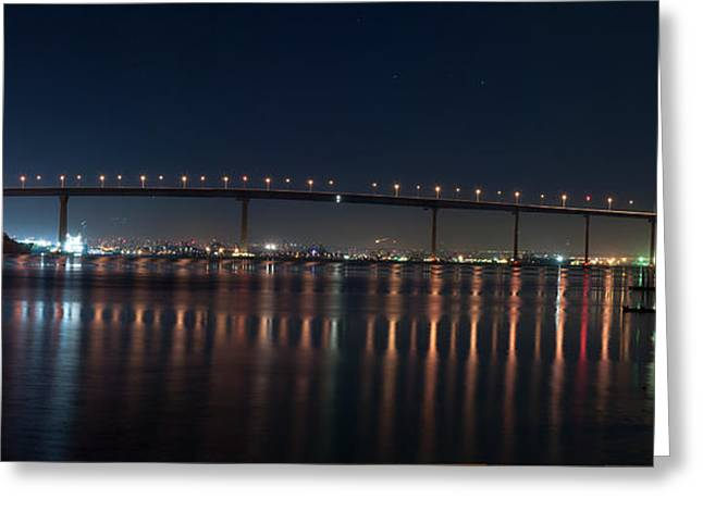 Coronado Bridge San Diego Greeting Card by Gandz Photography