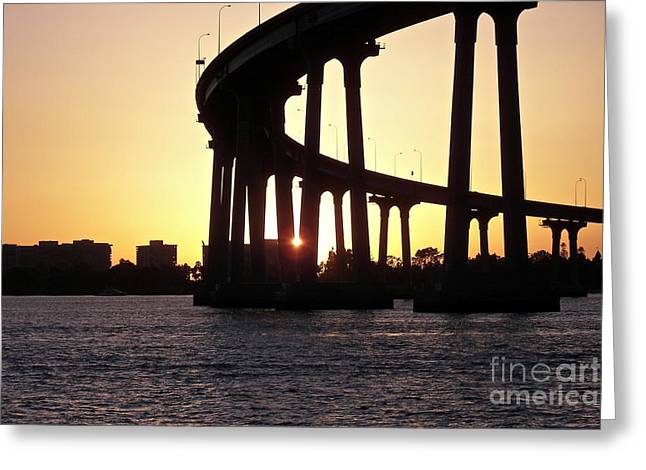 Coronado Bridge Sunset Greeting Card