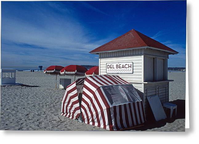 Coronado Seaside Vacation Greeting Card by Kathy Yates
