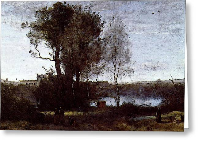 Corot Large Sharecropping Farm Greeting Card