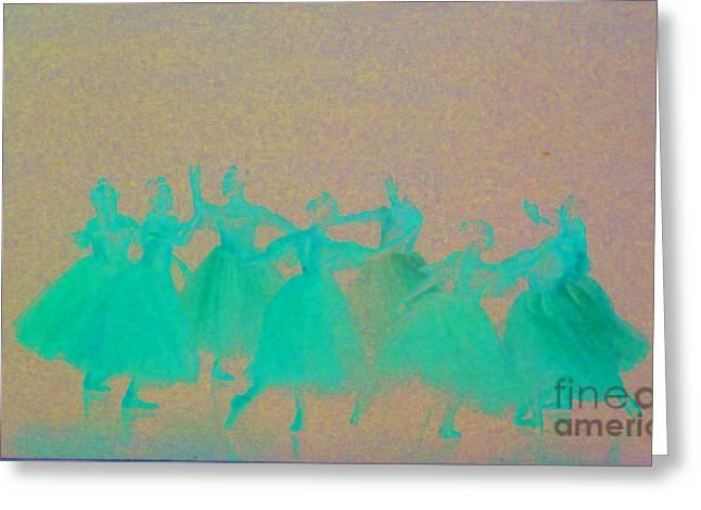 Corps De Ballet II Greeting Card by Mia Alexander