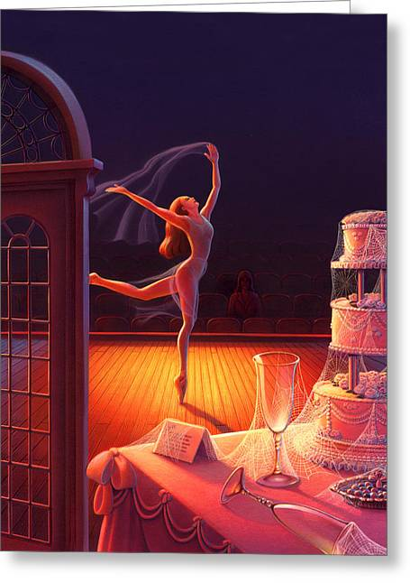 Corpse De Ballet Greeting Card by Robin Moline