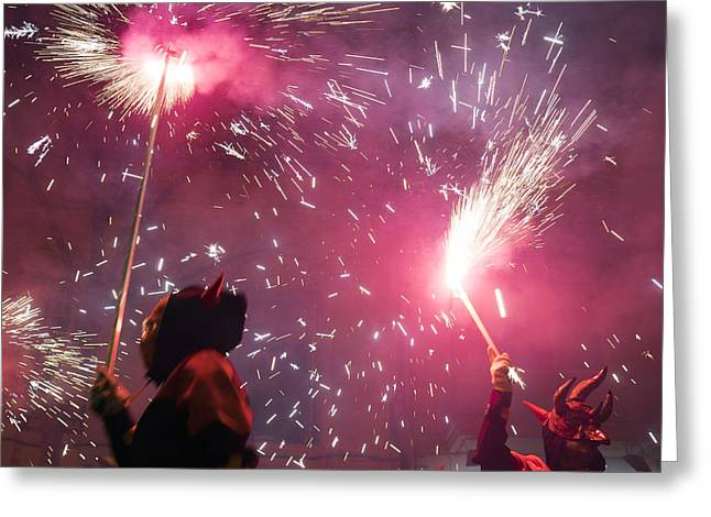 Correfoc Fallas 2015 Greeting Card