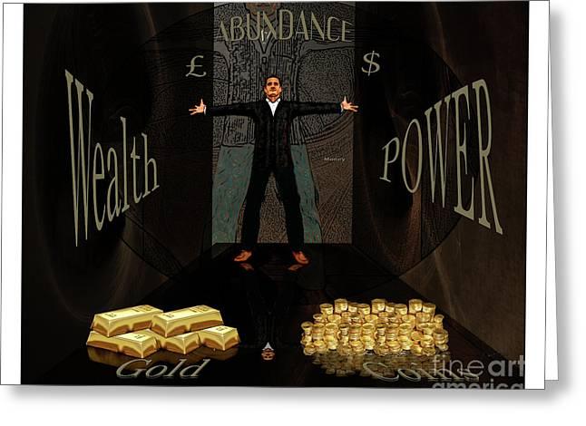 Corridor Of Wealth Greeting Card