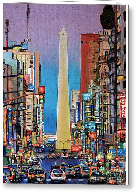 Corrientes Avenue Greeting Card