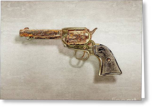 Corroded Peacemaker Greeting Card by YoPedro