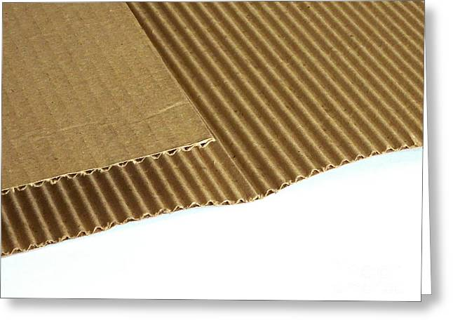 Corrugated Cardboard Greeting Card by Scimat