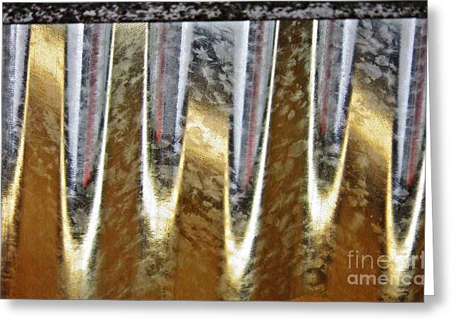 Corrugated Metal Abstract 3 Greeting Card