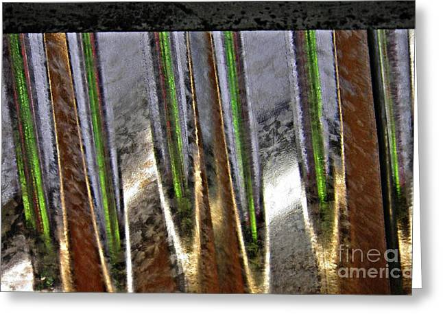 Corrugated Metal Abstract 4 Greeting Card