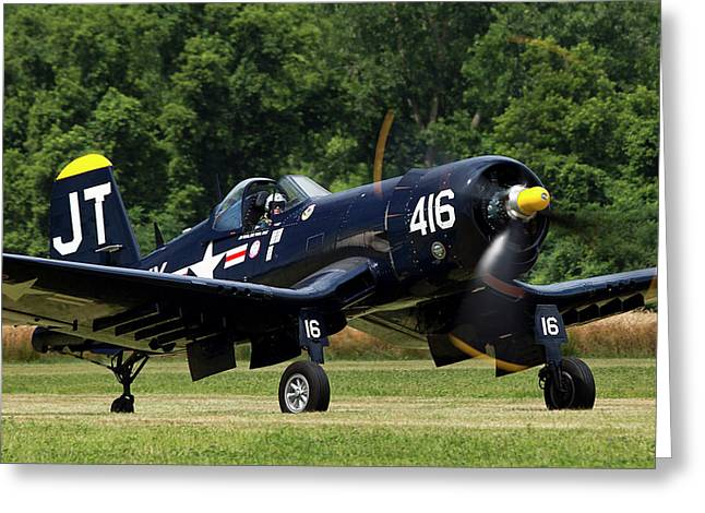Greeting Card featuring the photograph Corsair Close-up by Peter Chilelli