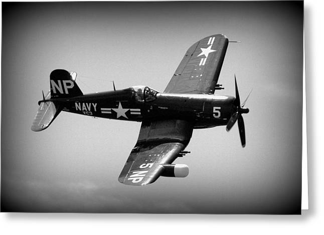 Corsair Flight Greeting Card by Kevin Fortier