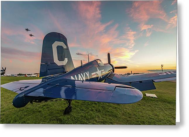 Corsair Sunset Greeting Card